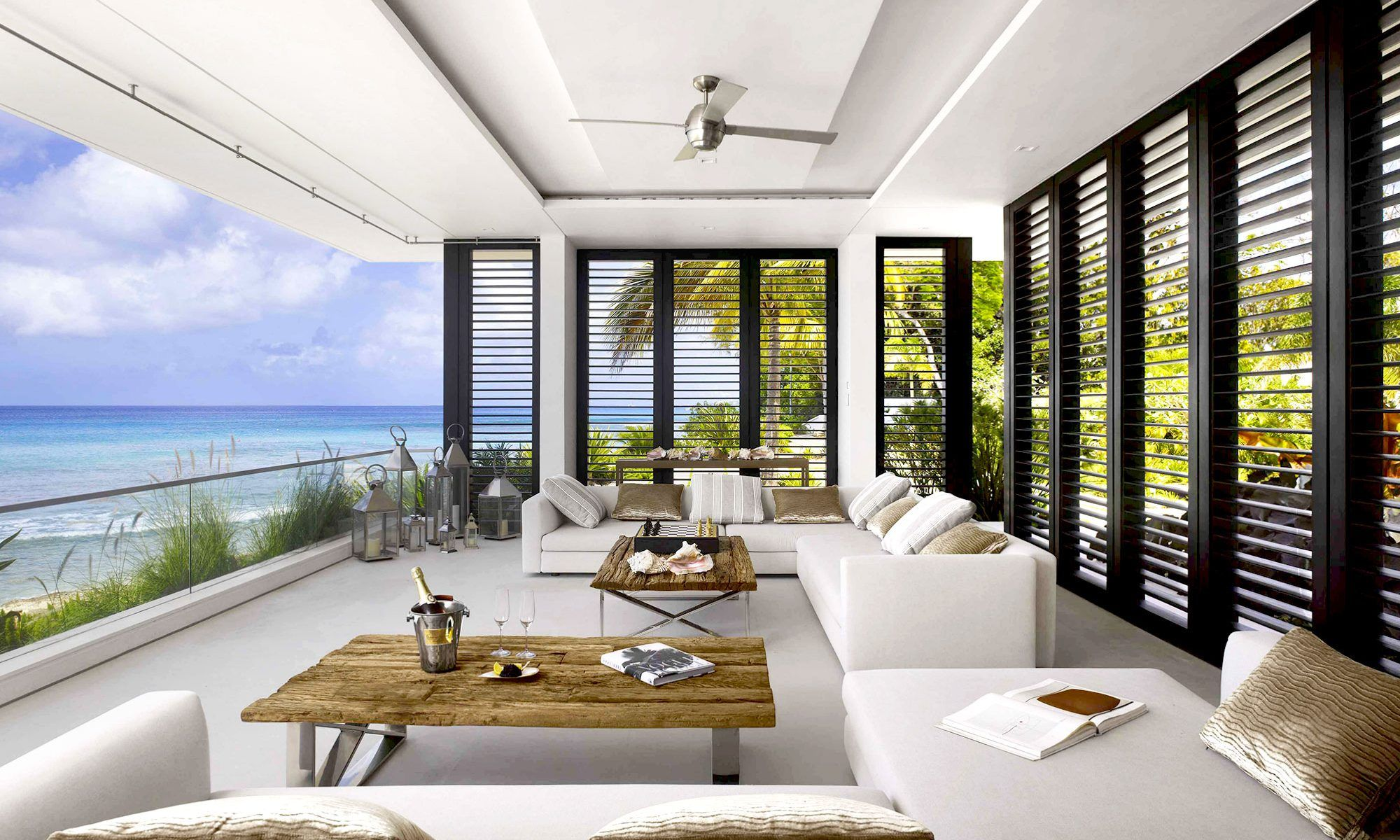 This contemporary ocean side home enjoys  beautiful location right on the  platinum west coast of barbados our interior design brief was to create also rh pinterest