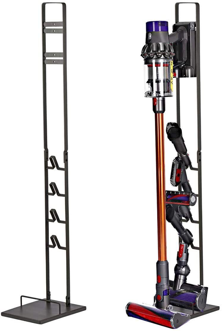 Vacuum Cleaner Holder Metal Floor Stand for Dyson Handheld V6,V7,V8,V10 No Drilling the Wall-Black