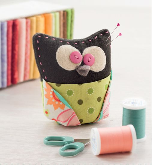 Is sewing gifts on your holiday to-do list? There's a new book out that'll make it SO easy to finalize your stitching plans! Click through to find the perfect pattern (including this adorable owl pincushion) for everyone on your gift list.