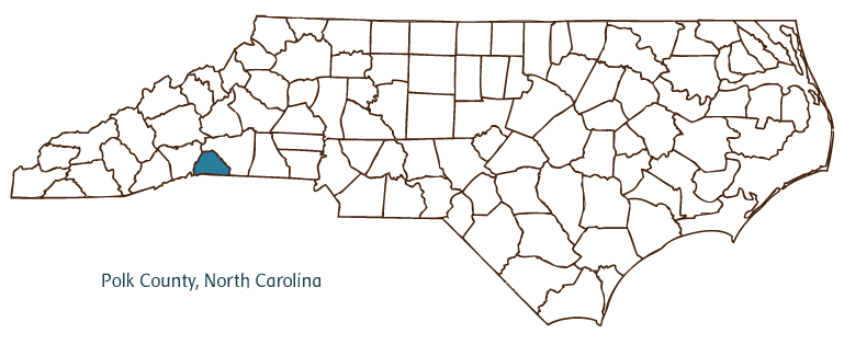 Map Showing The Location Of Polk County Nc Ncpedia Polk County