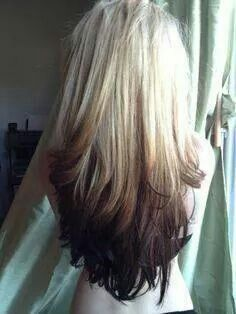 Blonde With Dark Ends Long Hair Styles Reverse Ombre Hair Hair Styles