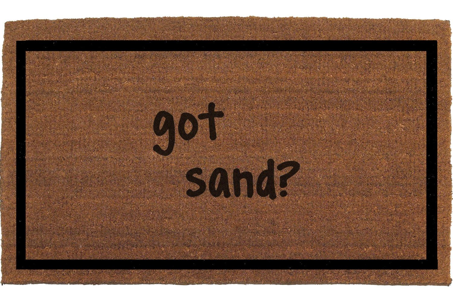 Beach Door Mat Coir Doormat Rug 2 X 11 Welcome Outdoor Housewarming Gift Hand Painted By Me Franklinandfigg On Etsy
