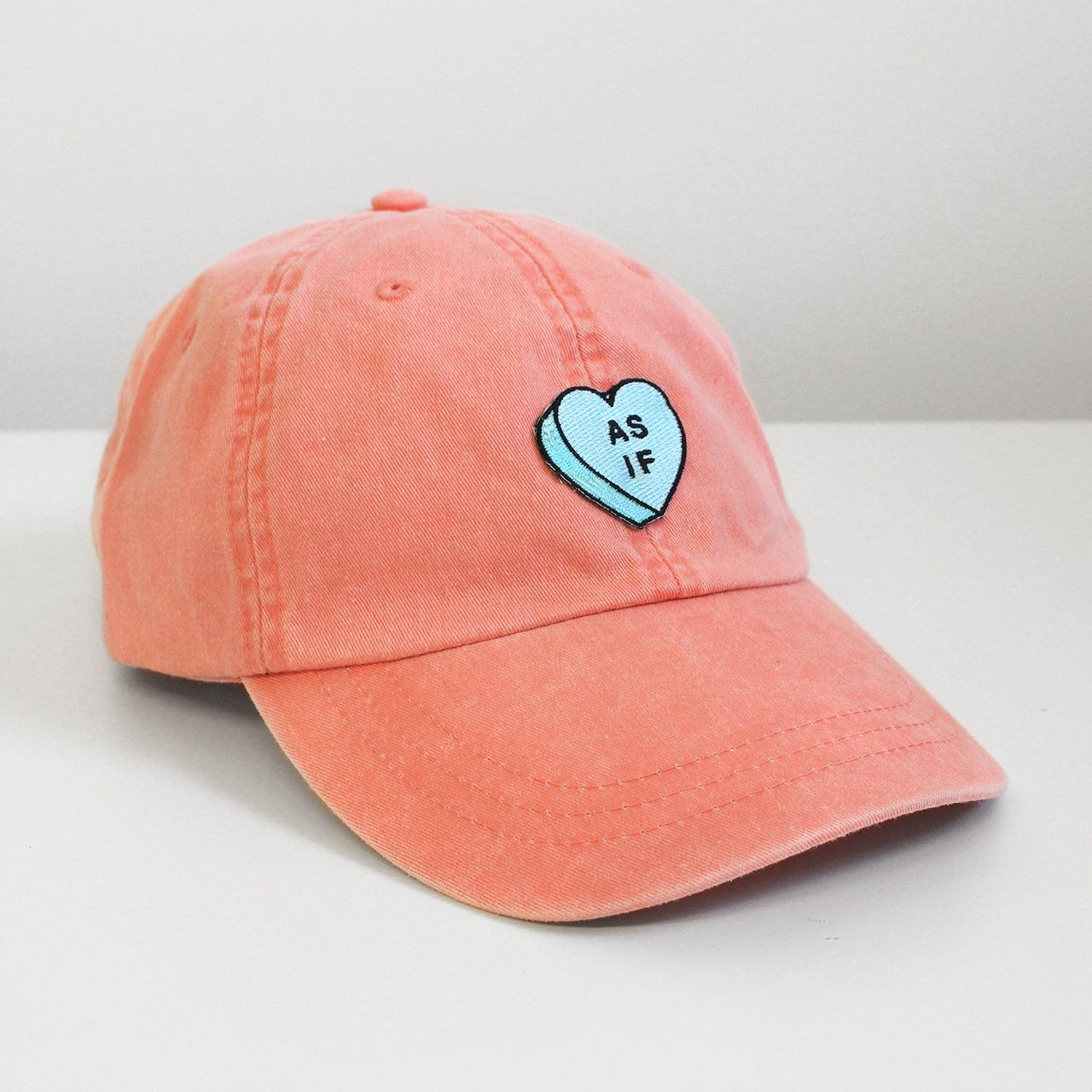 21814eda5bdb4 As If heart candy embroidered baseball hat cap - feminist pastel ...