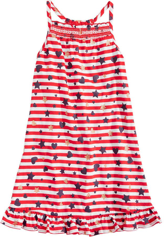 0936699d9ea8b Epic Threads Little Girls Printed Smocked-Front Dress, Created for Macy's