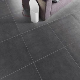 Carrelage sol et mur anthracite louvio 60 x 60 cm d co for Carrelage 60x60 gris anthracite