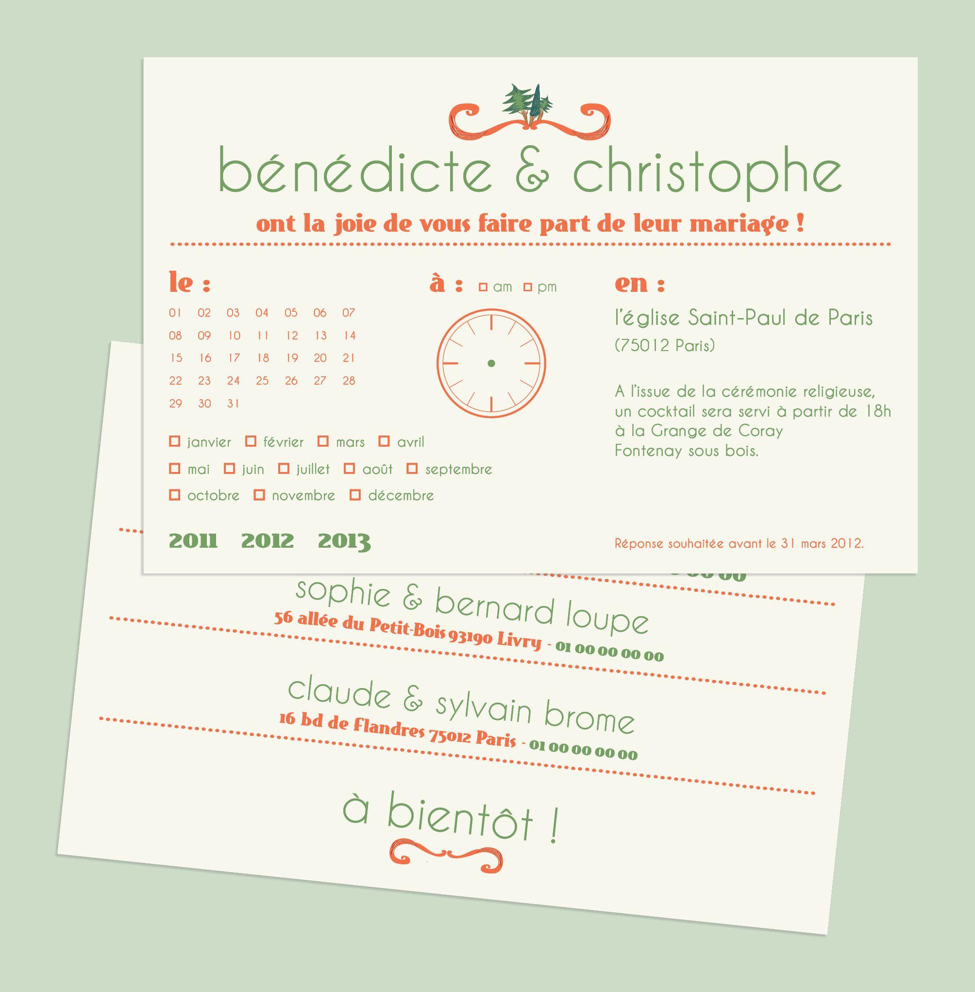 tascarteblanche.fr _ Faire-part de mariage, carte postale