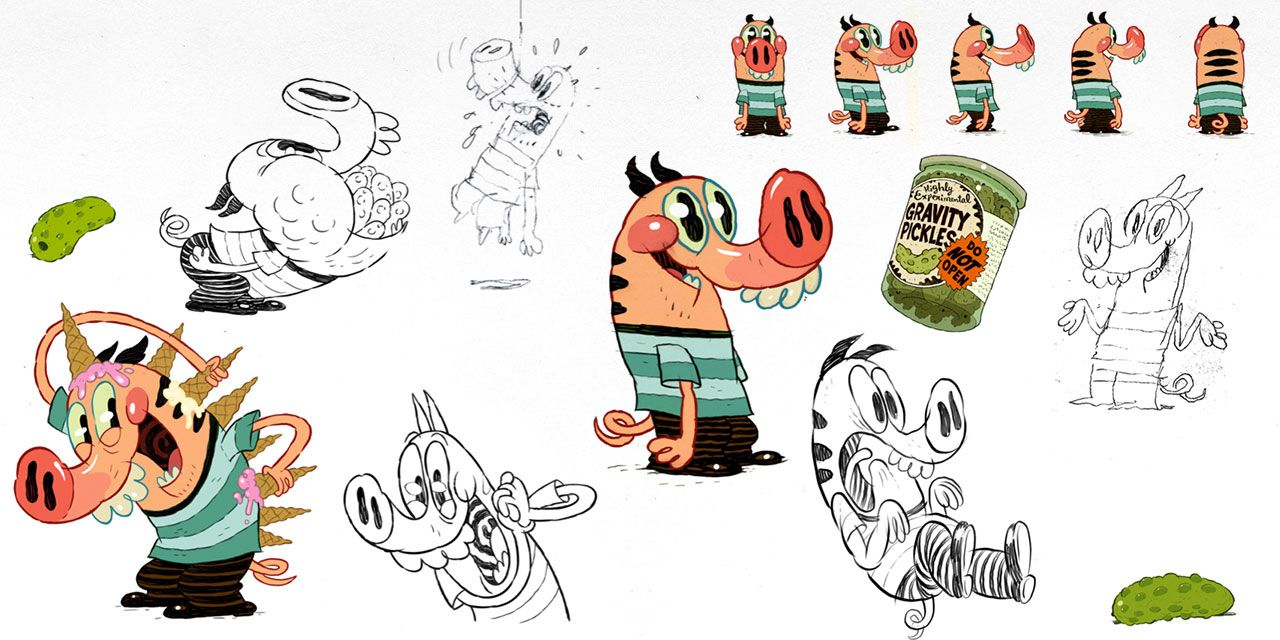 Piggoat 06 Character Design Character Design Pig