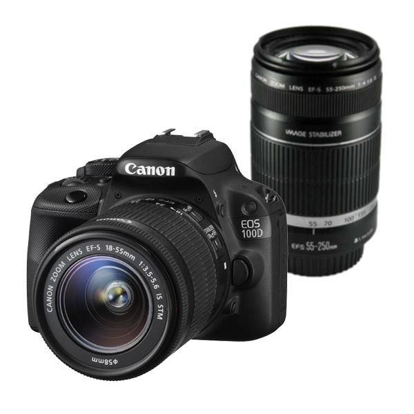 Canon Eos 100d Twin Kit With 18 55 Is And 55 250 Is Lenses Price Nz 920 29 Canon Lenses Eos Canon Eos