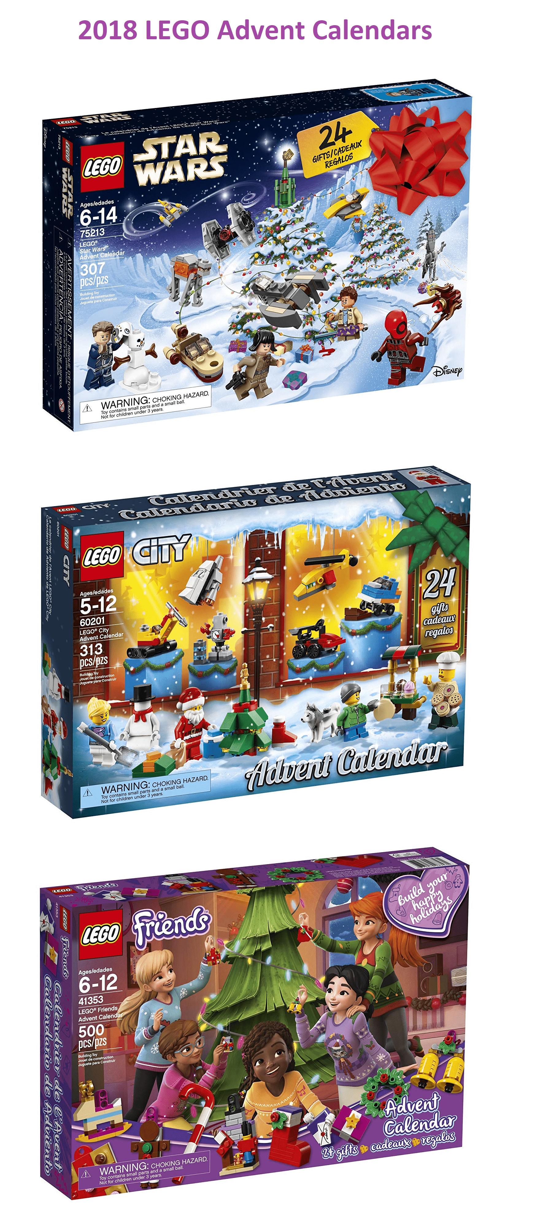 Lego 2018 Advent Calendars Available Now Star Wars Friends City Town Hello Subscription Lego City Advent Calendar Lego Advent Calendar Star Wars Advent Calendar