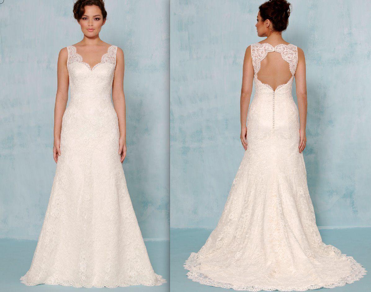 Augusta Jones lace, keyhole wedding dress | Augusta Jones ...