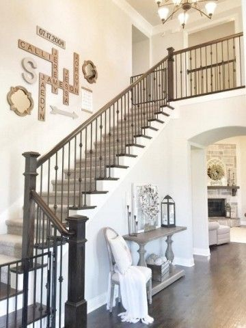 Wall: Smartness Inspiration Stair Wall Decor Also Decorating Staircase Top  25 Ideas Decoration Best Stairwell