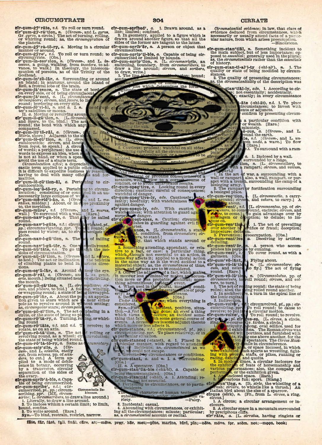 Firefly Jar Art Firefly Art Mason Jar Artfireflies In Mason Jar Childrens Art