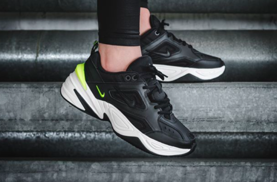 92406e1727a5e Nike M2K Tekno WMNS Black Volt Now Available Overseas The Nike M2K Tekno is  the brand s