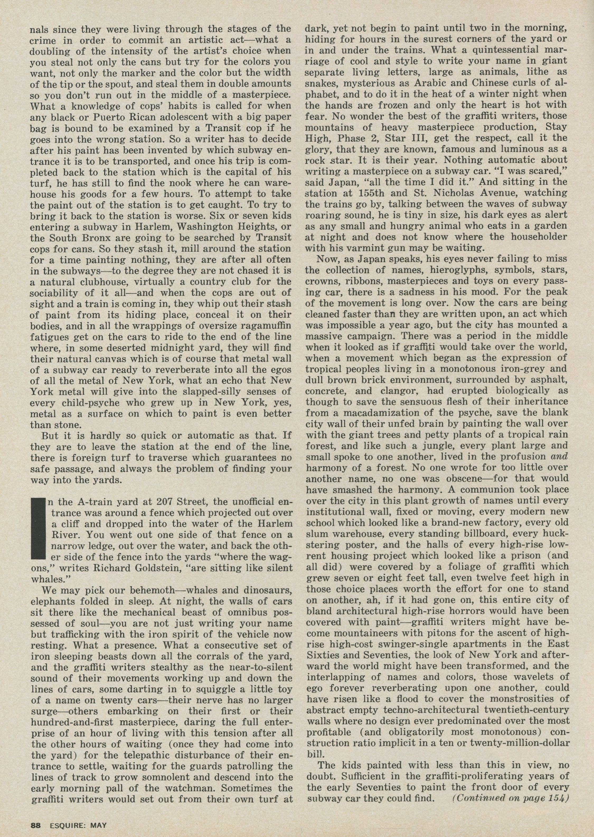 Esquire / The Faith Of Graffiti / Norman Mailer | Test Pressing