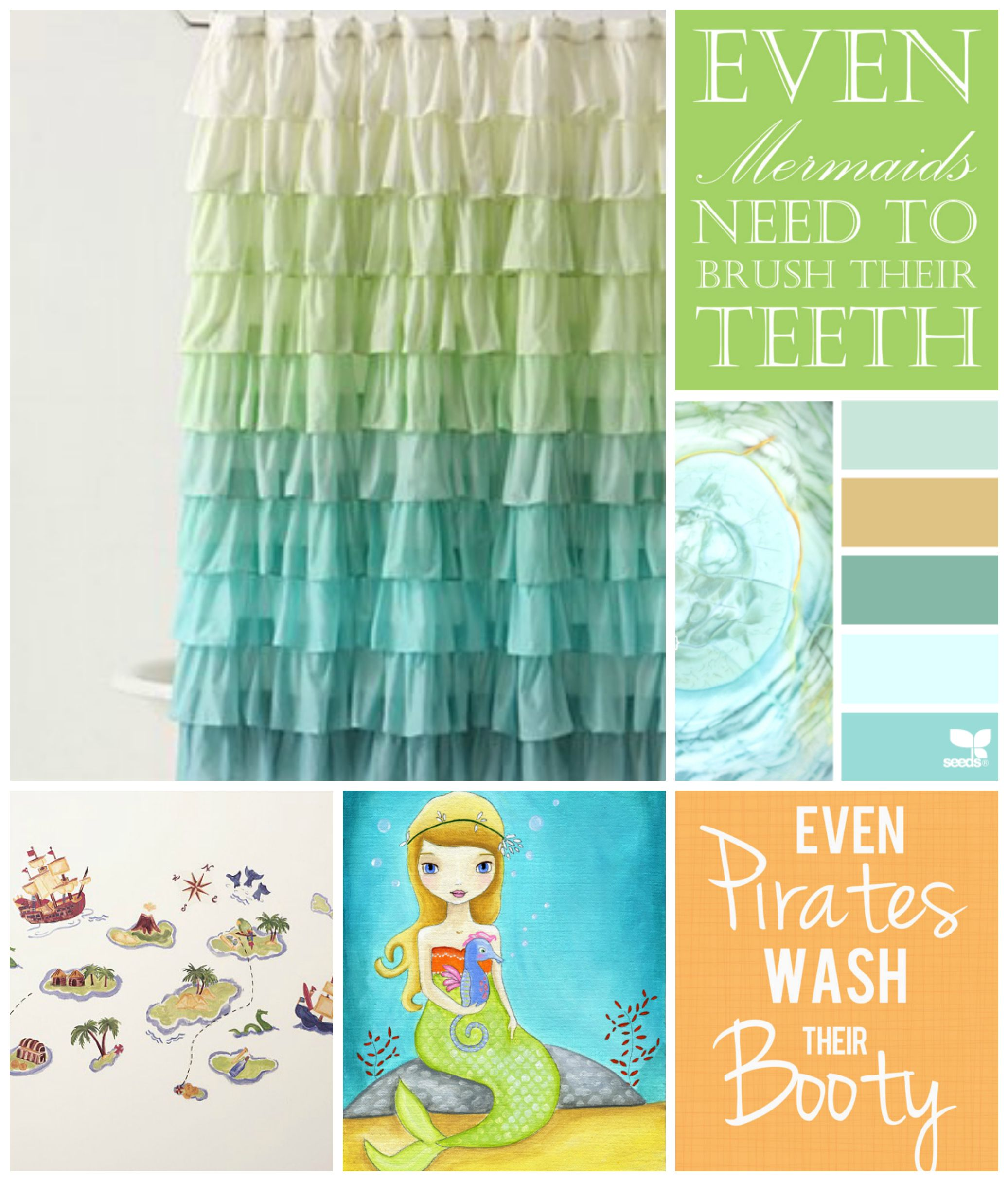 mermaid and pirate shower curtain even wash their mermaid inspiration 253