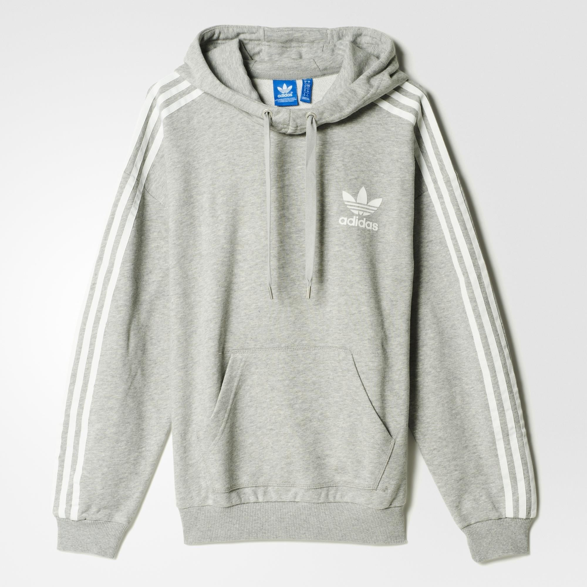 adidas 3-Stripes Hoodie - Grey | adidas US | style | Pinterest ...