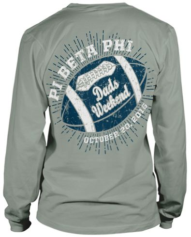 Pi Beta Phi Dads Day T Shirt On Light Green Comfort Colors T