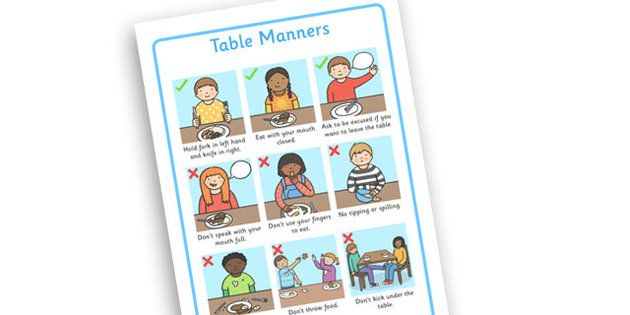 graphic relating to Table Manners for Kids Printable referred to as absolutely free printable desk manners chart Desk Manners For Small children