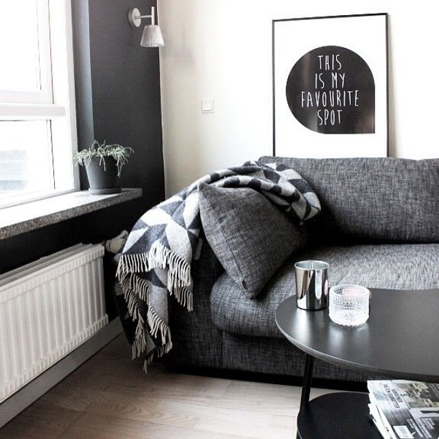 It's past dusk and time to settle into all our favourite spots as we welcome the evening rituals. @bungalow5dk definitely has the right idea with their scaled tones and corner nook. #favouritespot #monochromehome #minimalist
