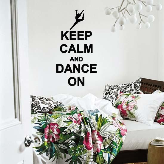 Keep Calm And Dance On Wall Lettering Vinyl Word Art Wall Decal