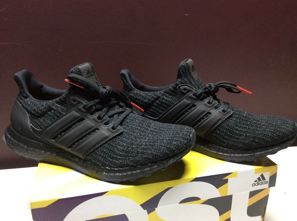 NEW Adidas Ultra Boost 4.0 Triple Black sz 9.5 Nubuck Cage