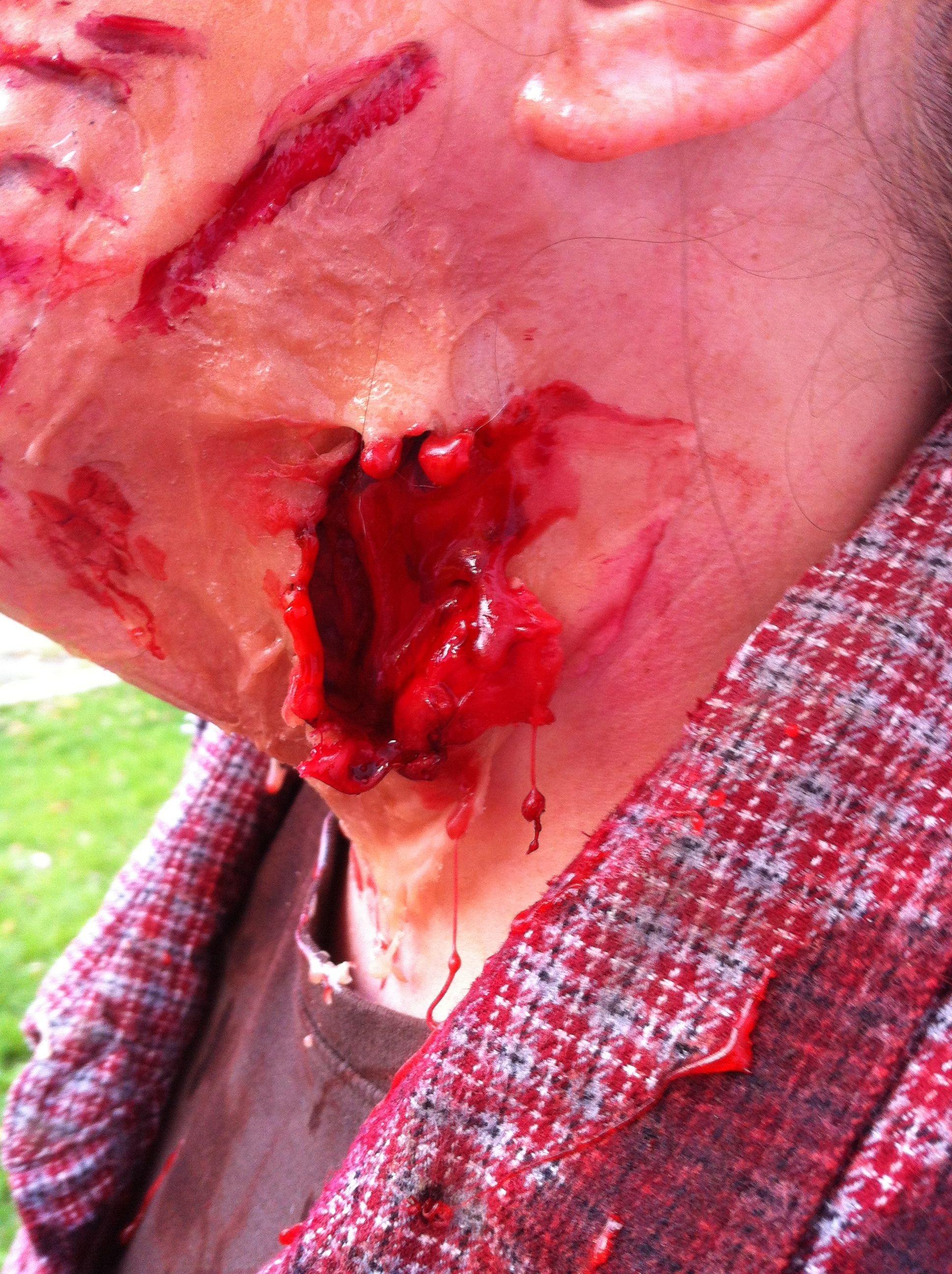 DIY Zombie makeup. Heat(Gelatin+Glycerin+Water) | Zombies ...