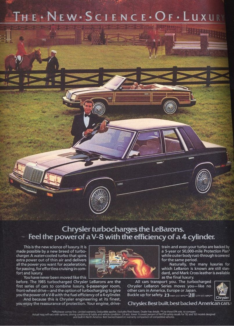 1985 Chrysler Lebaron Chrysler Lebaron Automobile Advertising