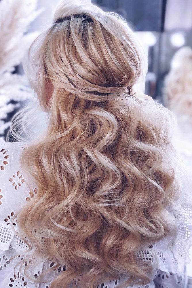 50 Cute Long Layered Haircuts with Bangs 2019 | Wedding hair down, Diy ...