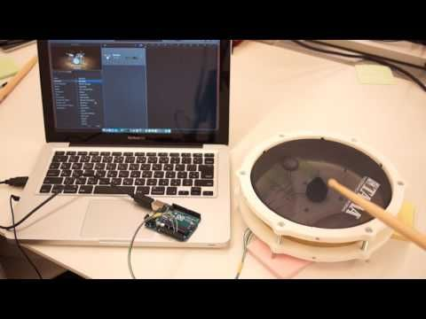 13) 3d printed drum pad with Arduino UNO - YouTube | DIY MIDI