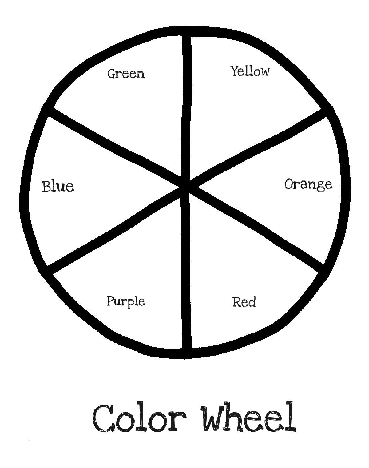 Color Wheel Blank Labeled Preschool Colors Color Wheel Summer School Art