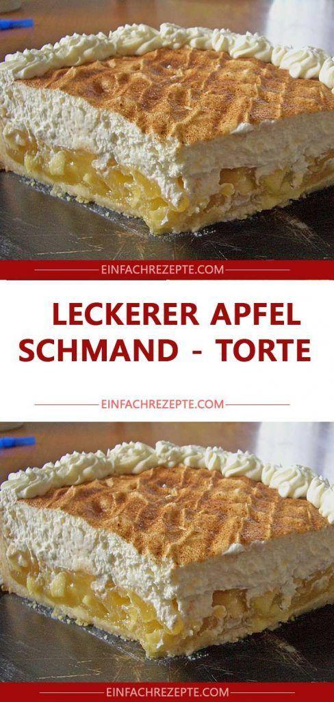 LECKERER Apfel – Schmand – Torte