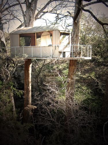 Sister Trip staying in unique quarters. overnight in Lofthaven Treehouse and rode through the trees on the Cypress Valley Canopy Tours zip line near Austin ... & Sister Trip #2 staying in unique quarters... overnight in Lofthaven ...