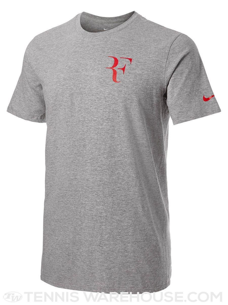 0e6f9fda310 Roger Federer RF Foundation Chest Logo Nike T-Shirt