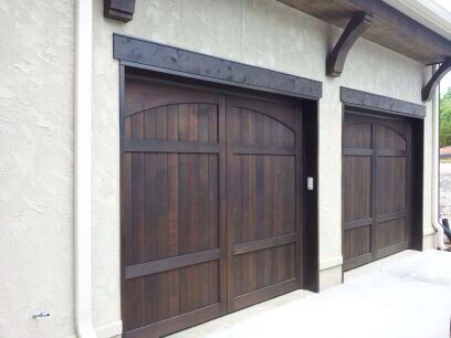 Clear Western Red Cedar Carriage Doors Made By American Garage Door  Systems, Inc. Charlotte