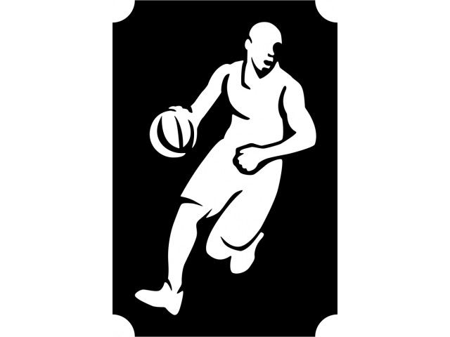 Basketball player 01 Plantilla   stencil   Pinterest   Stenciling