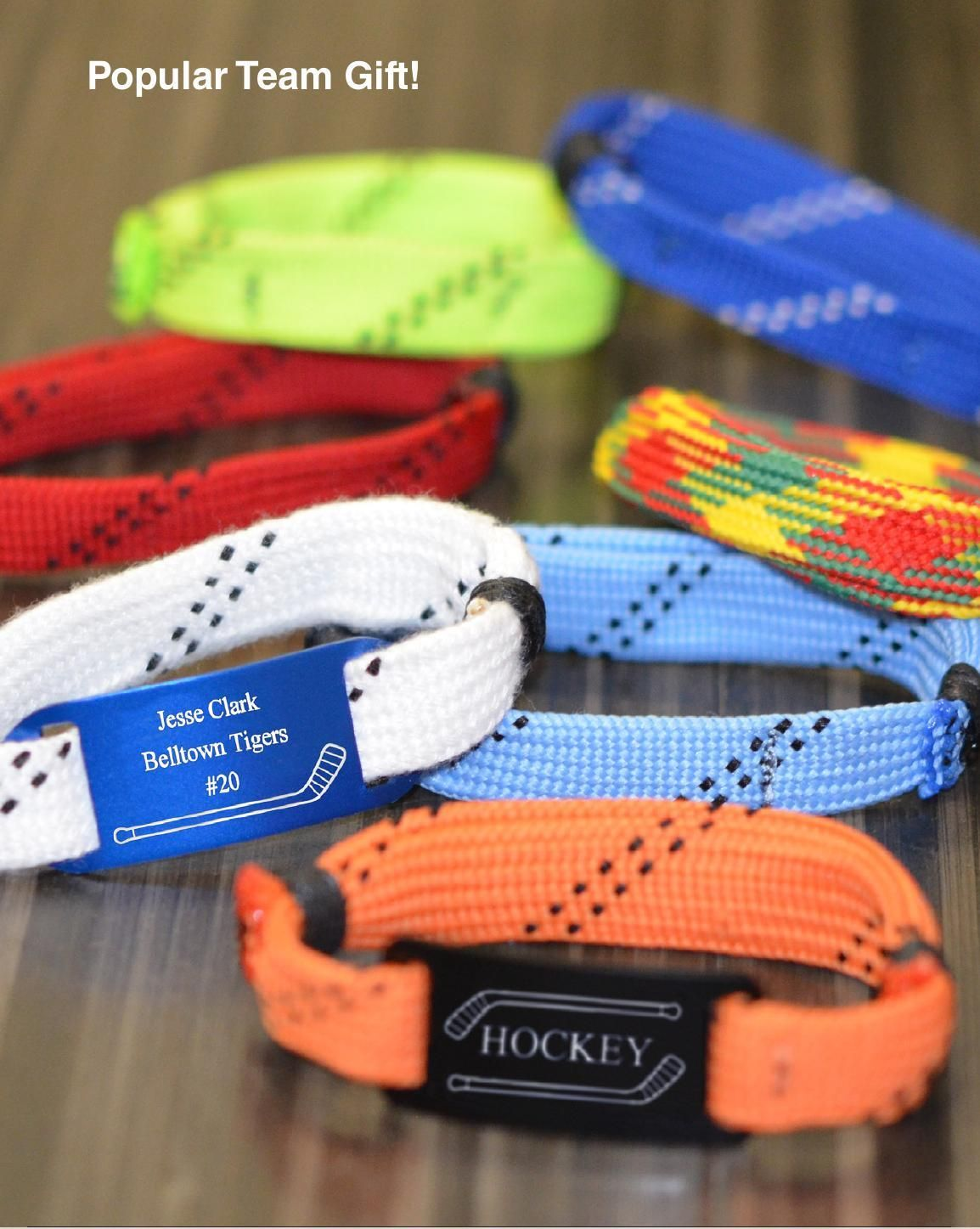 Hockey Seasonal Gift Guide 2014 | Loot bags, Lace bracelet and Hockey