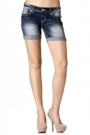 cuffed mid thigh denim shorts | anya lookbook | Pinterest | Thighs ...