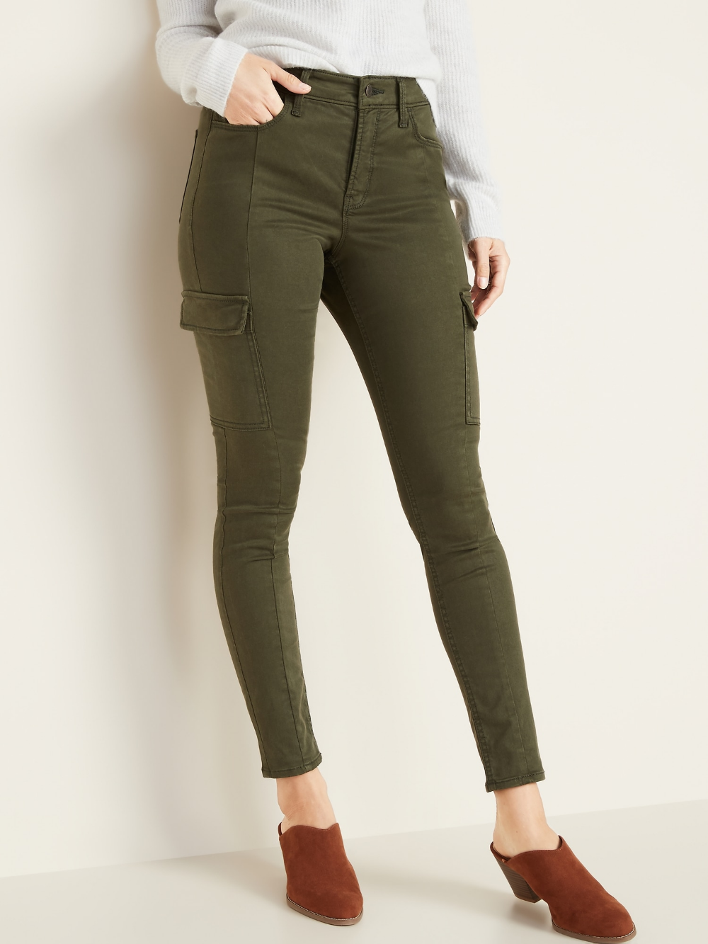 High Waisted Sateen Rockstar Super Skinny Cargo Pants For Women Old Navy Cargo Pants Women Skinny Cargo Pants Jeans Outfit Women
