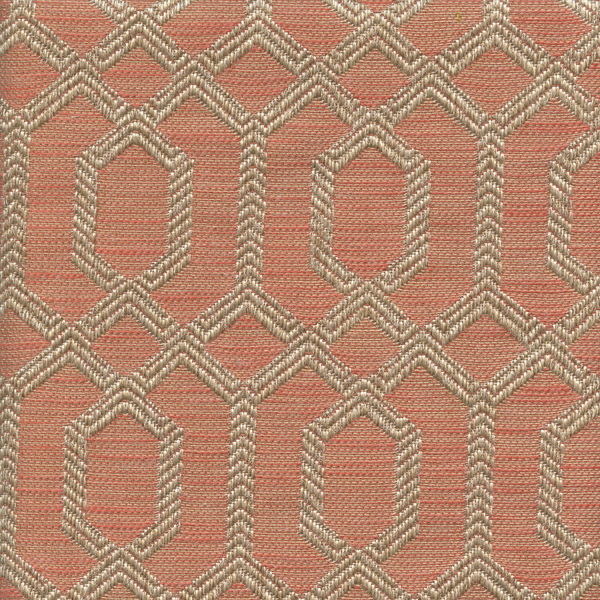 This A Pink With Gold Geometric Embroidery Upholstery Fabric, Suitable For  Any Decor In The