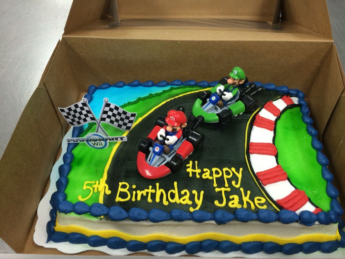 Super Super Mario Cart Kit Cake Decorated By Sonja Holton Reinhardt Personalised Birthday Cards Sponlily Jamesorg