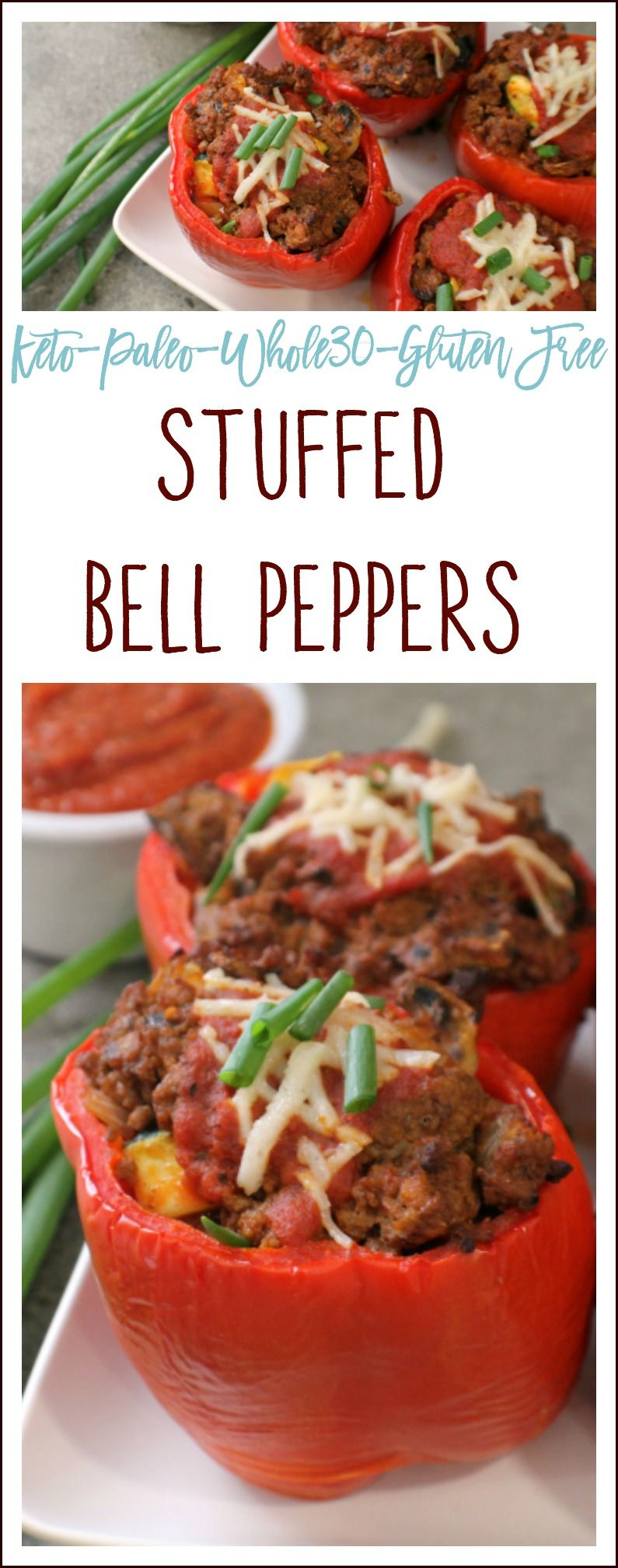Stuffed Bell Peppers {Keto, Paleo, Dairy Free, Whole30
