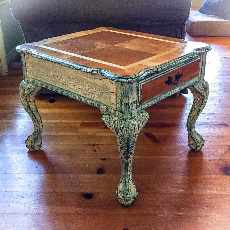 French Country Side Table From Reincarnated Love White End
