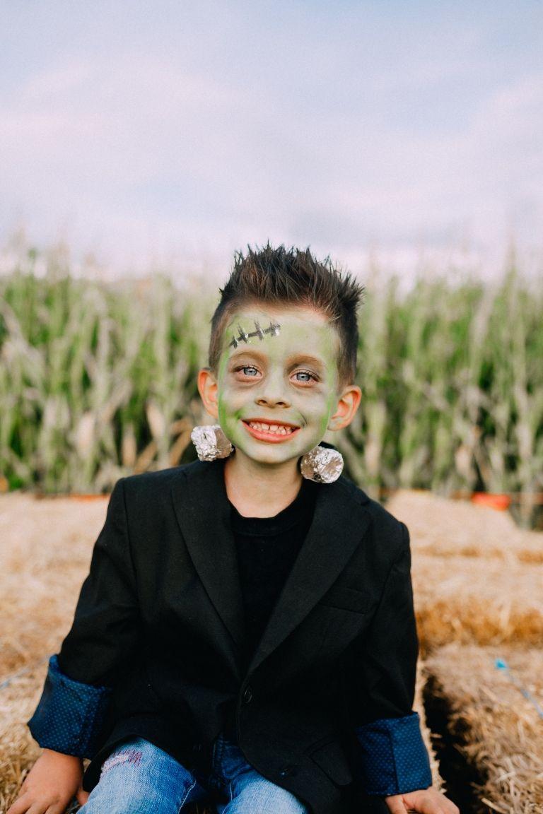 Diy Frankenstein Costumes Twist Me Pretty Boys Halloween Costumes Diy Boys Scary Halloween Costumes Frankenstein Costume