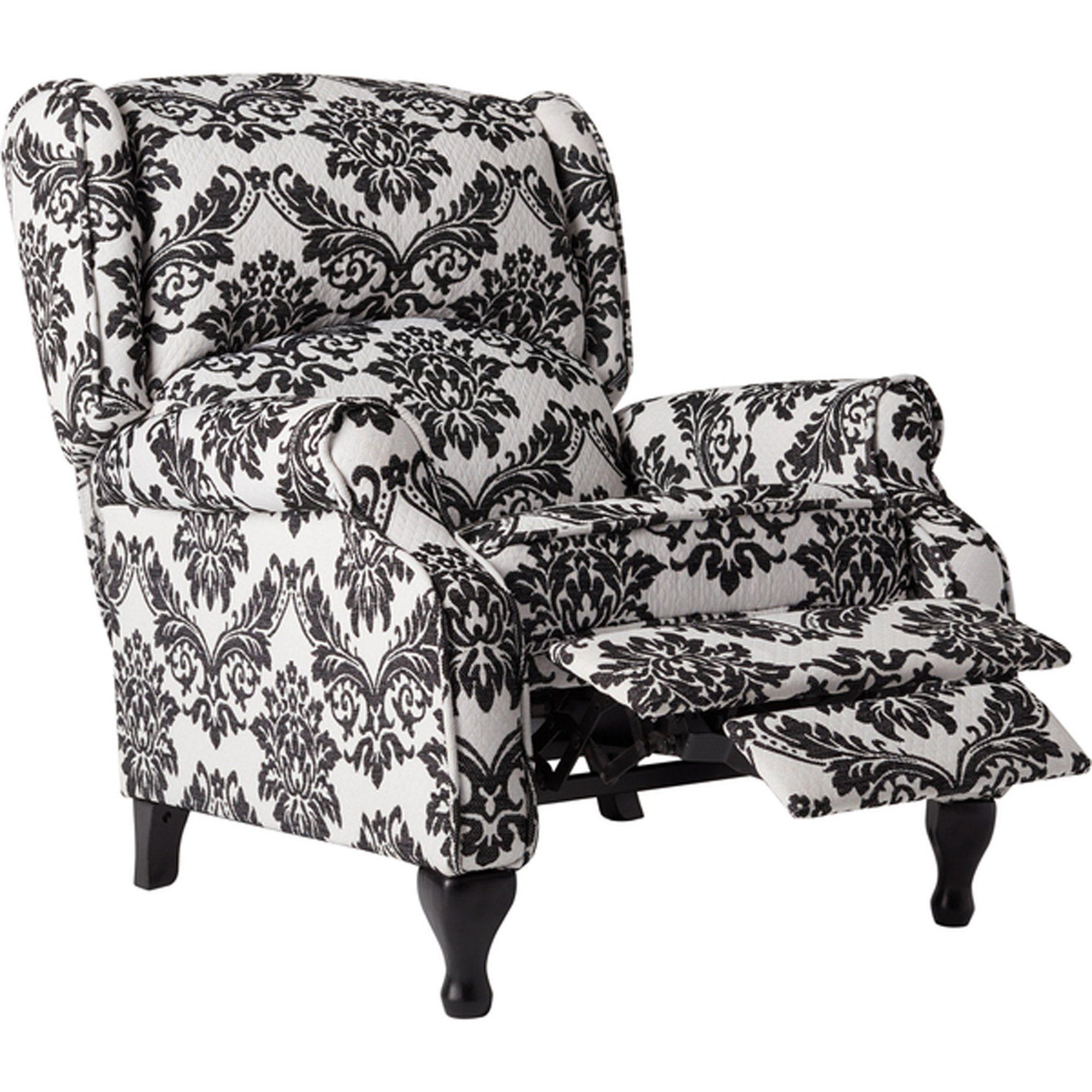 Best Recliner Chair Floral Pattern Upholstered Modern Wingback 400 x 300