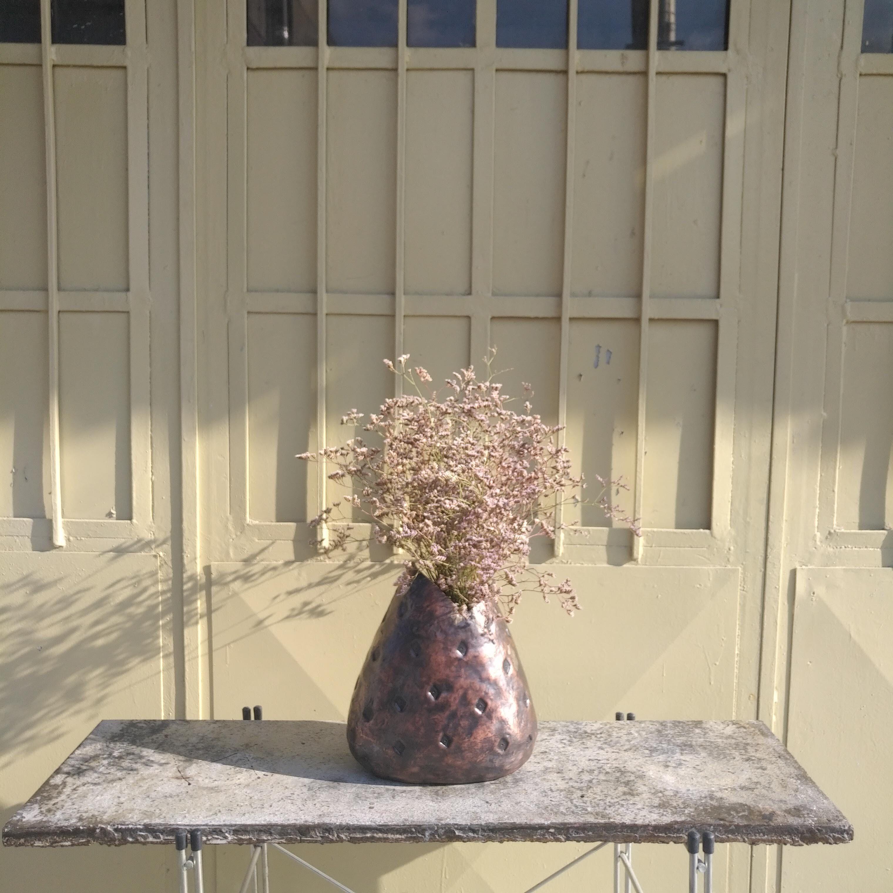Sac Vase Adorno Design Vase Handcrafted Decor High Table