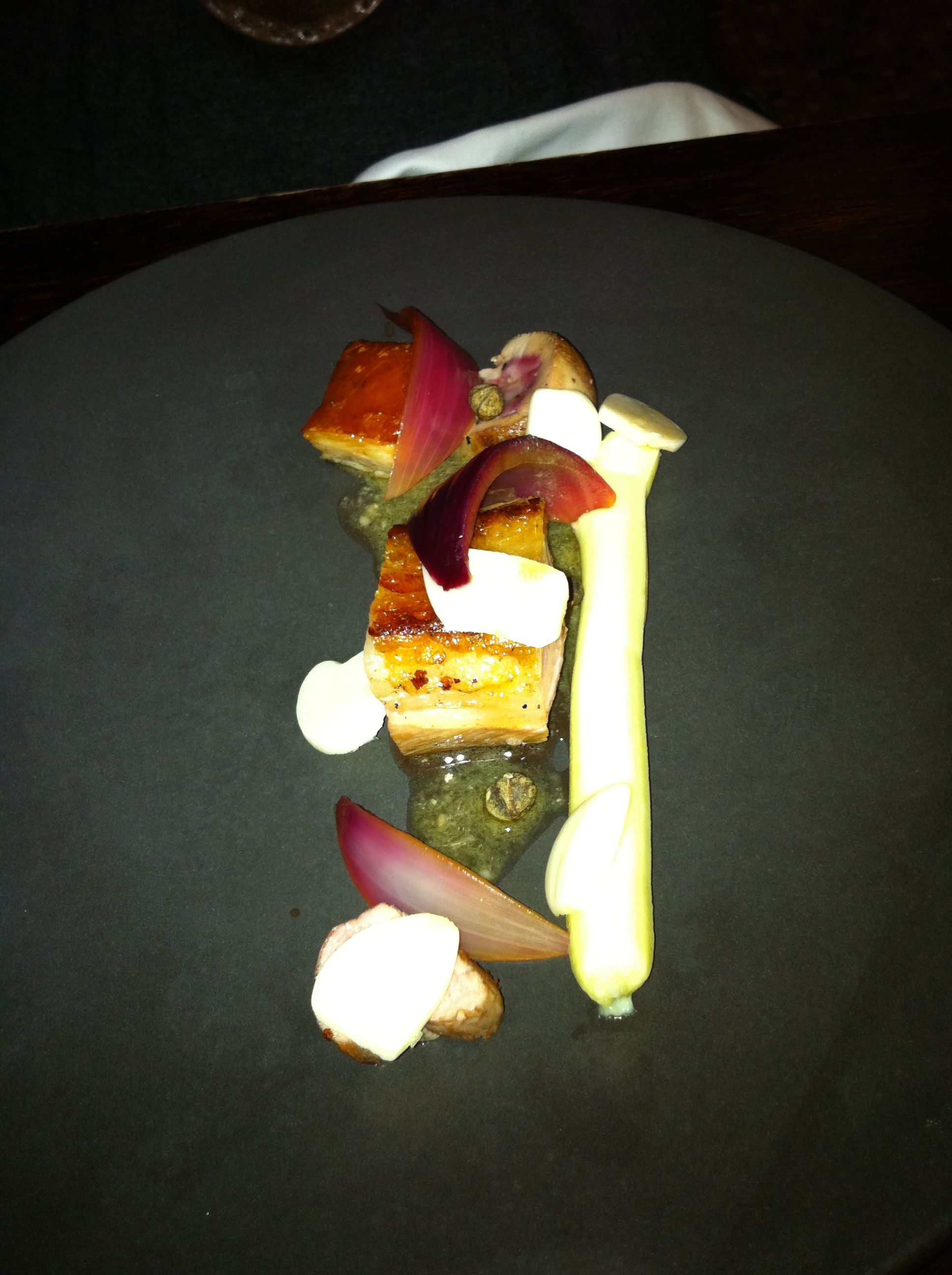 Le C Aubriand In Paris An Amazing 11 Course Meal 8 Seared Pork Belly