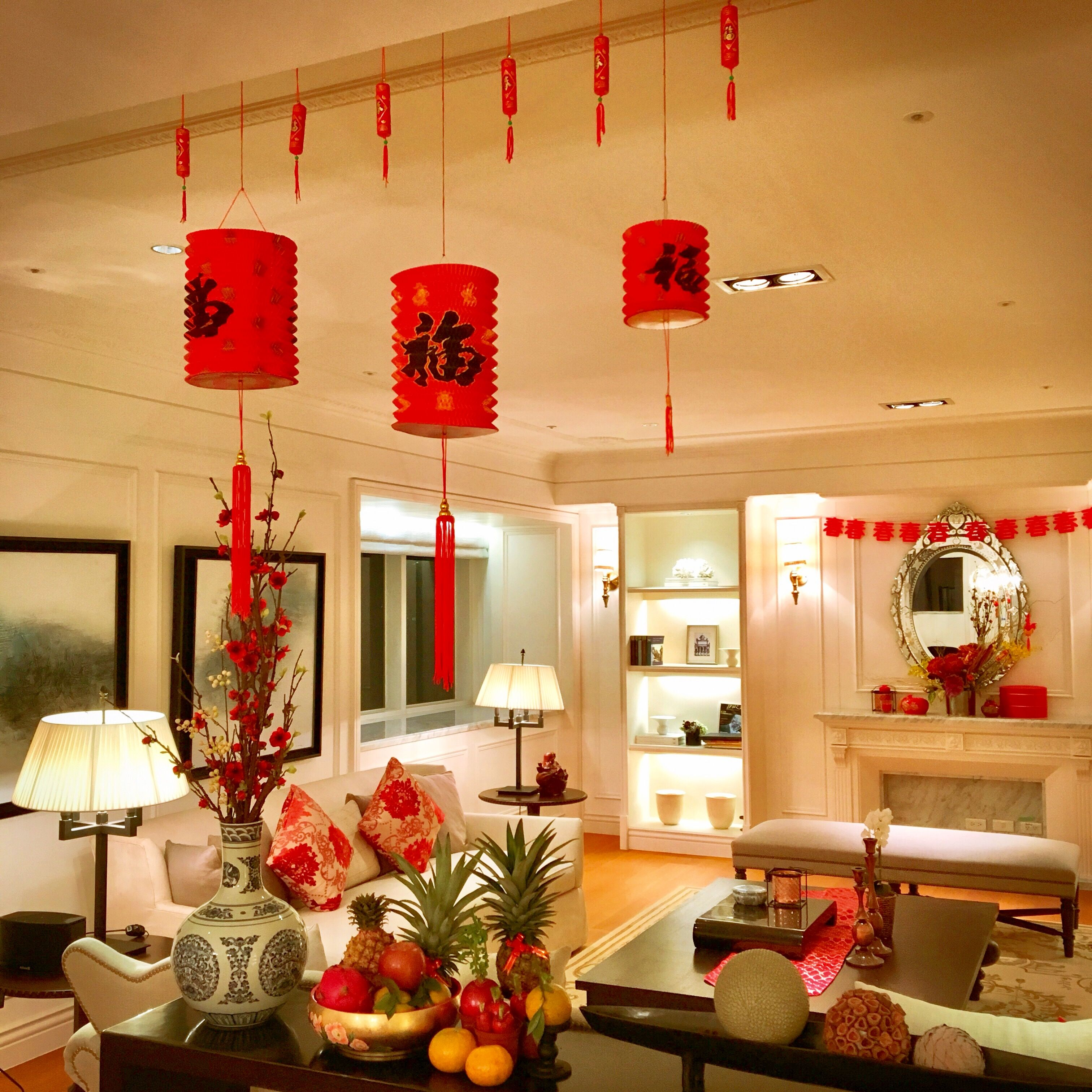 Chinese new year decoration also  peeked into the wooden house and living room was simply rh pinterest