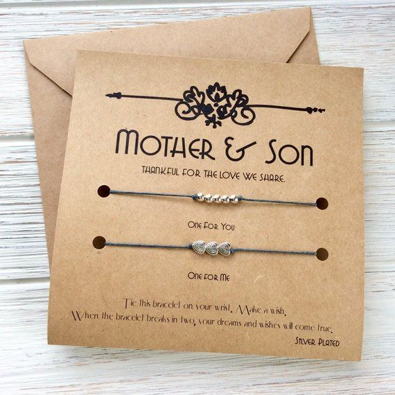 Mother And Son Gifts Mothers Day Gift For Birthday Mom Wish Bracelet Matching