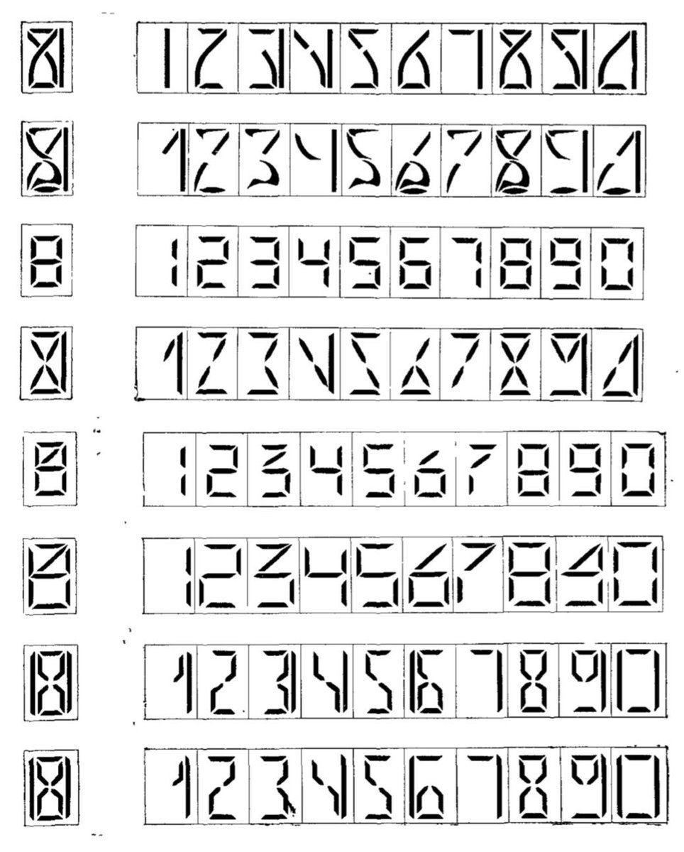 Weird Number Fonts 9