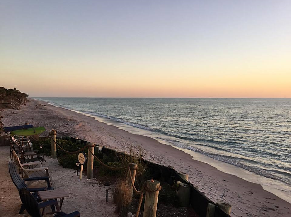 Our patio overlooking the beach & The Gulf of Mexico ...